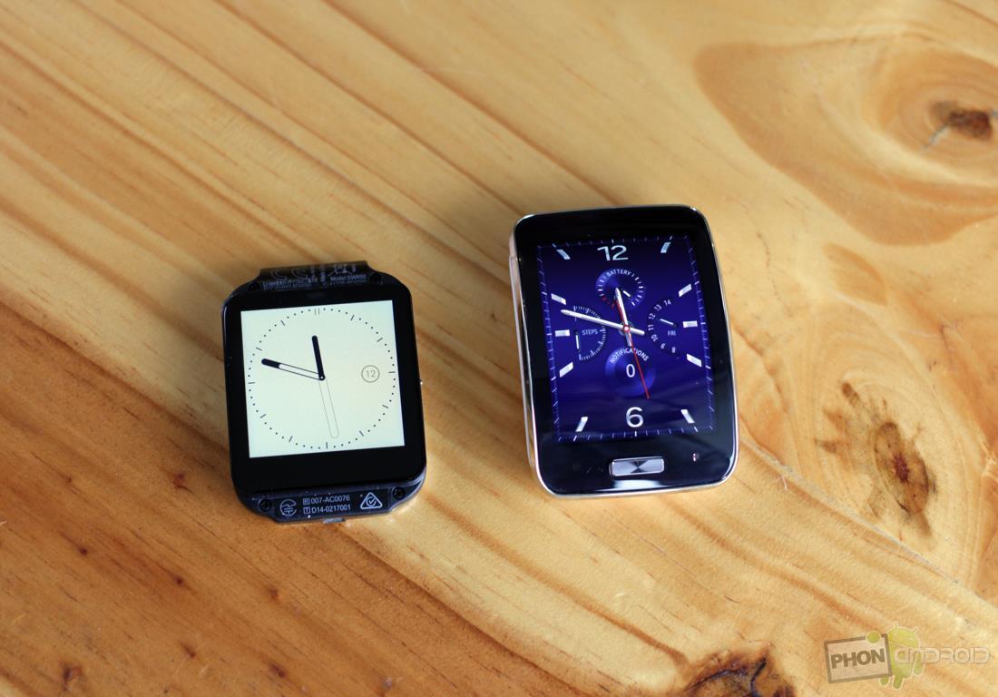ecran samsung gear s sony smartwatch