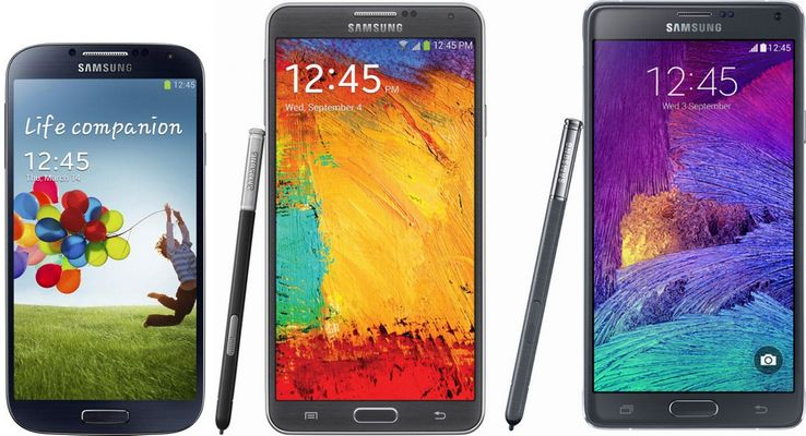 Galaxy S4 Note 3 Note 4 Lollipop
