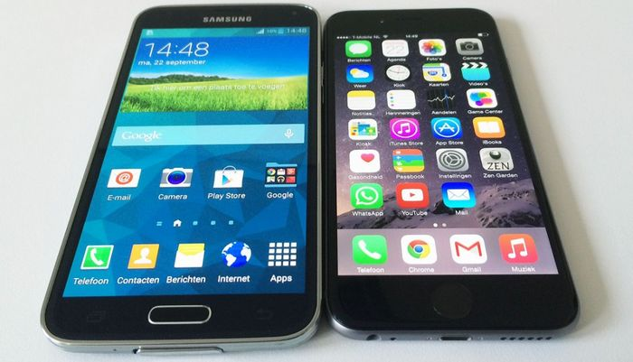 Galaxy S5 vs iPhone 6