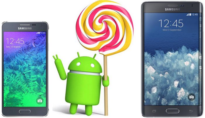 Galaxy Alpha Note Edge Lollipop