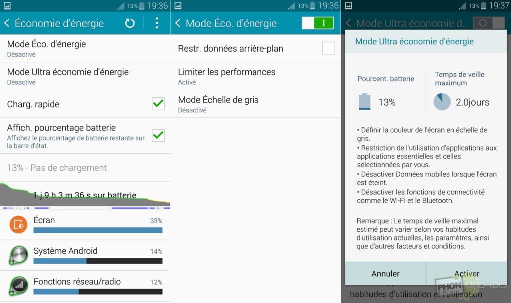Galaxy Note 4 et batterie faiblarde