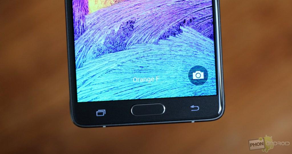 Galaxy Note 4 et l'espace entre la coque et l'écran