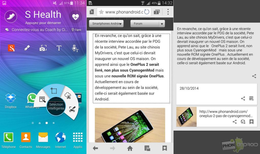 Galaxy Note 4 et bug de lags dans l'interface