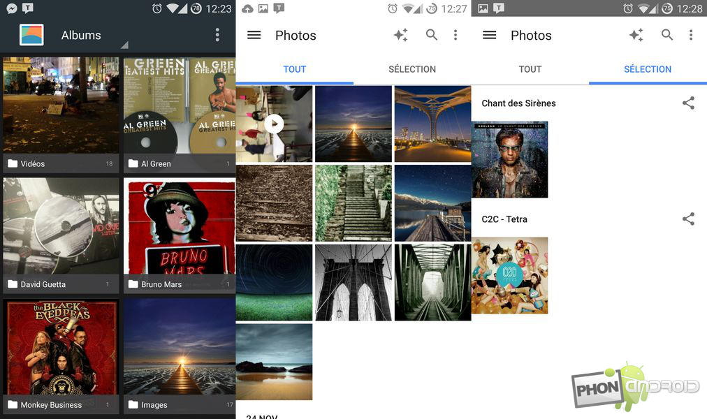 Images Galerie vs Photos
