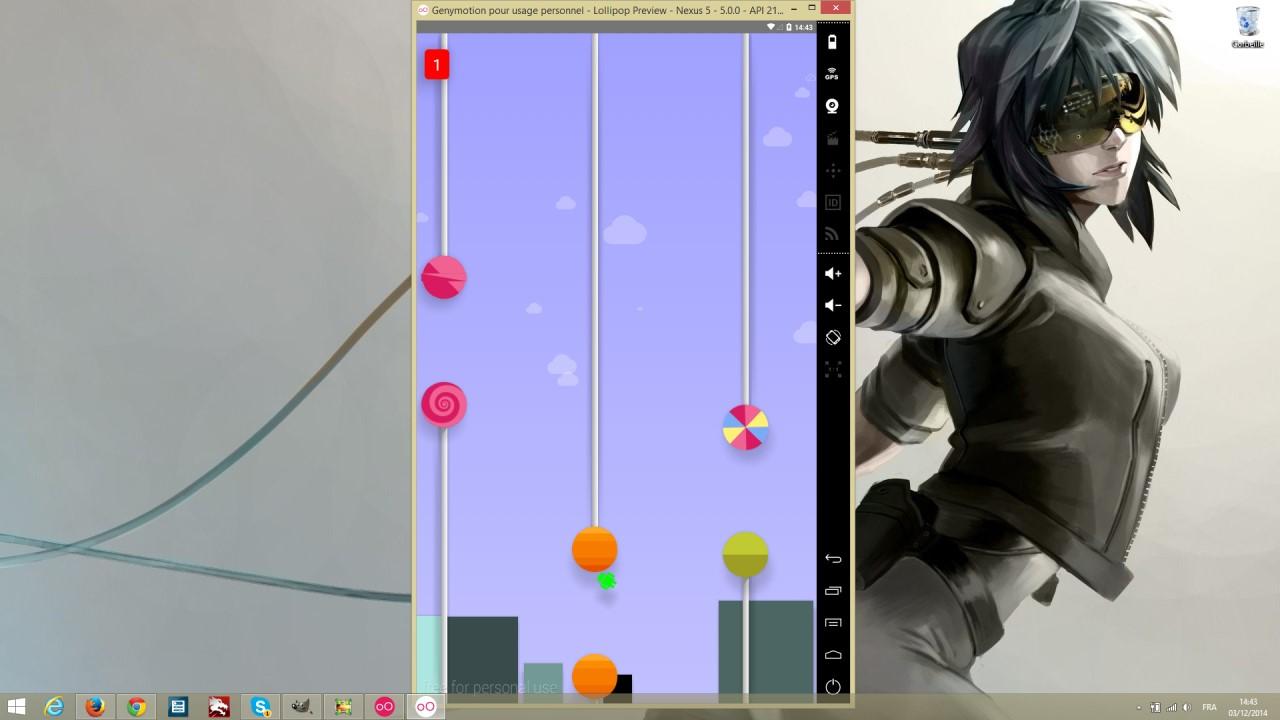 Genymotion et l'easter egg de Android Lollipop