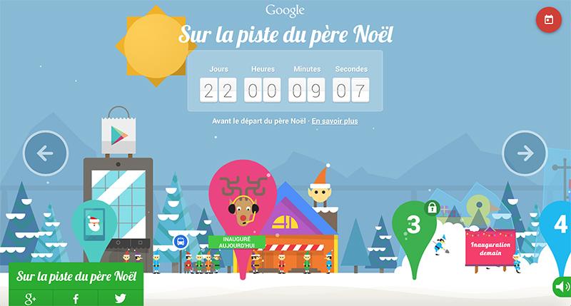 google santa tracker calendrier avent