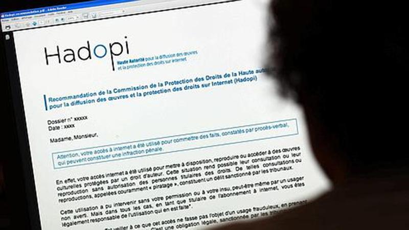 hadopi record envoi courriers