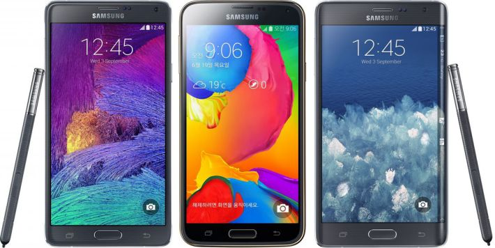mise à jour Android Lollipop Galaxy Note 4 Galaxy Note 5 Galaxy S5 LTE-A