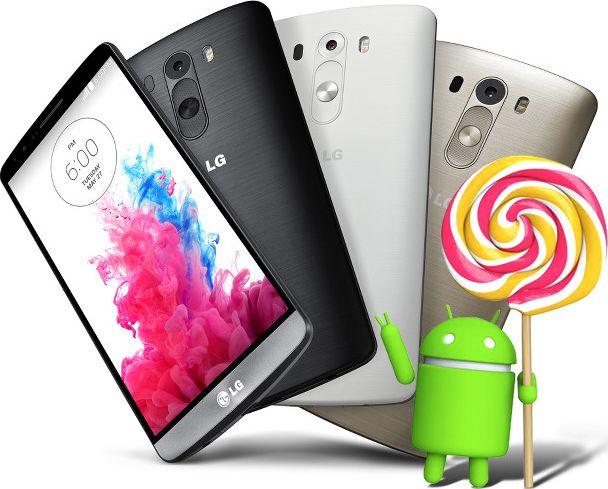 mise à jour LG G3 Android 5.0 Lollipop