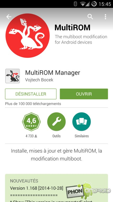 Multirom, le tutoriel