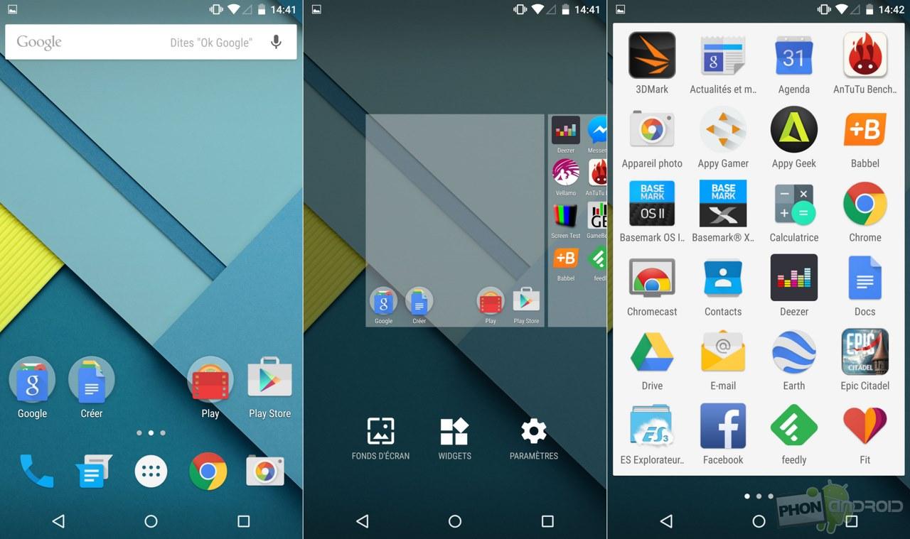 nexus 6 interface android lollipop