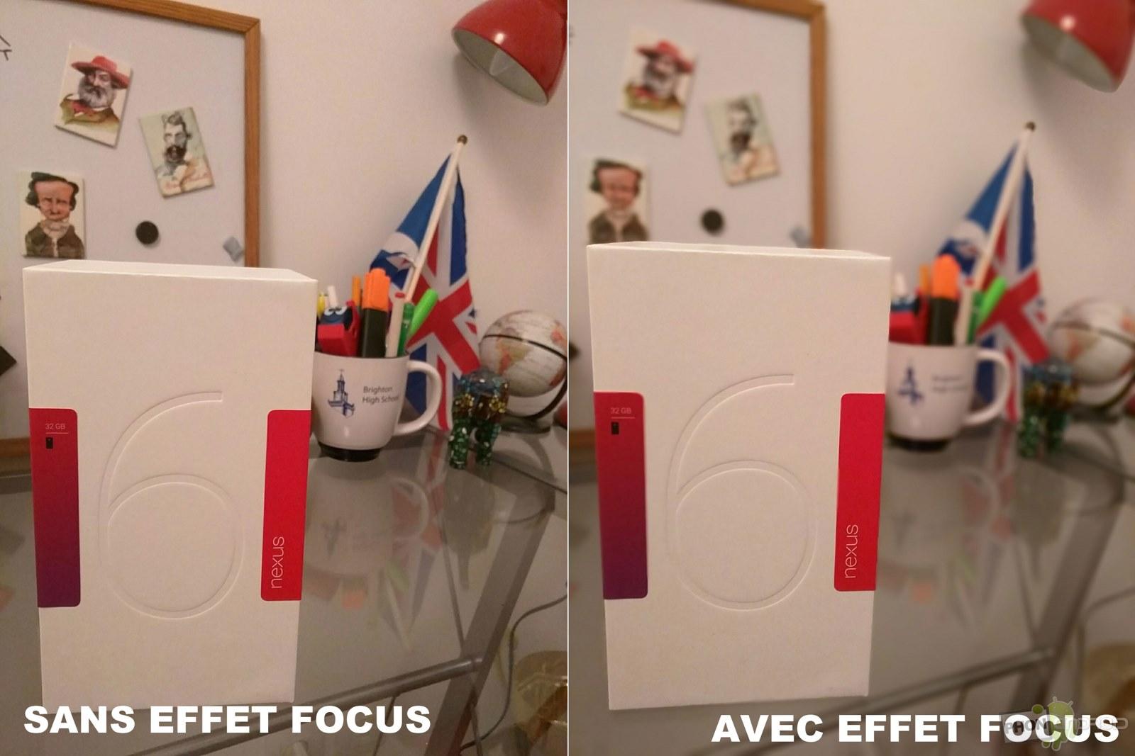 nexus 6 photo effet focus