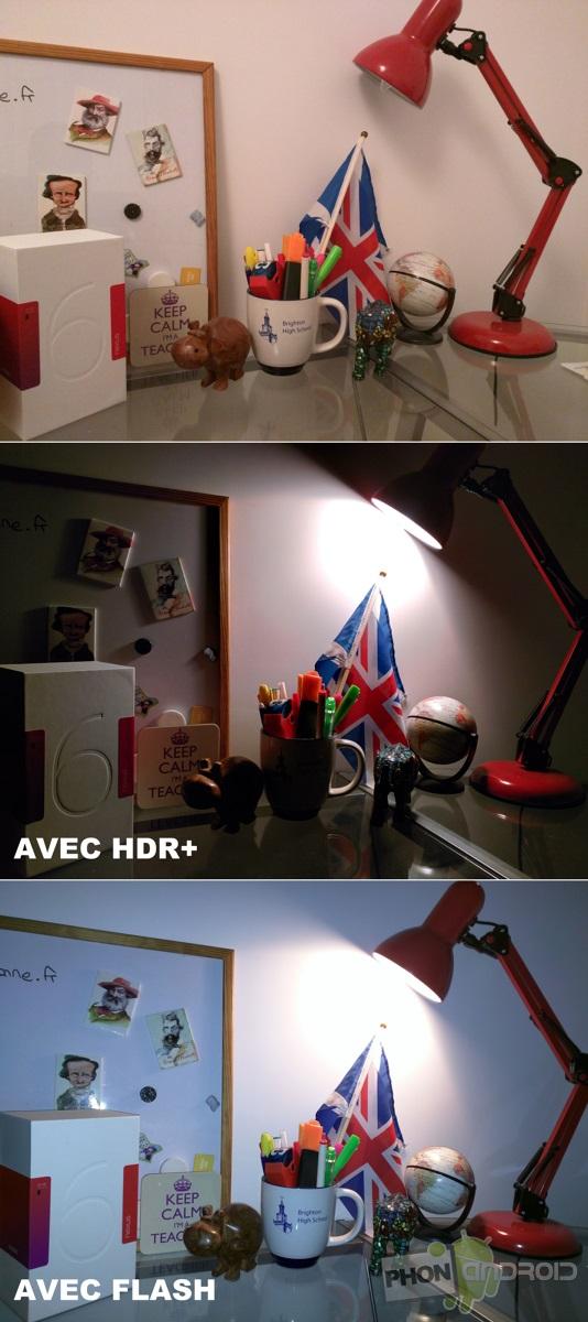nexus 6 photo lumiere artificielle