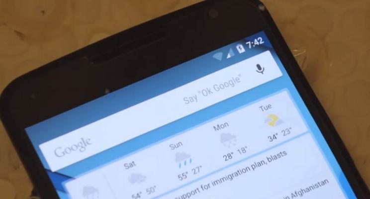 Nexus 6 test d'étanchéité