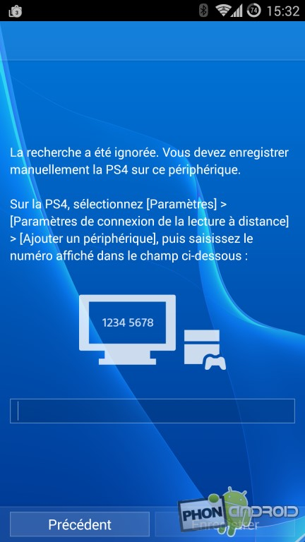 PS4 Remote Play, l'appareillage