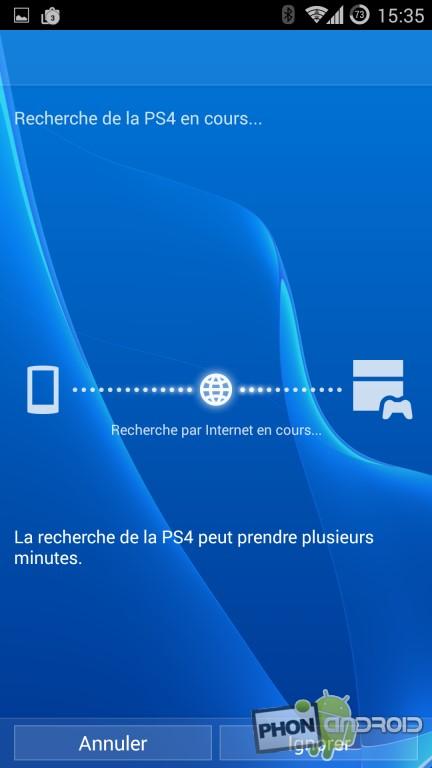 PS4 Remote Play, connexion à la PS4