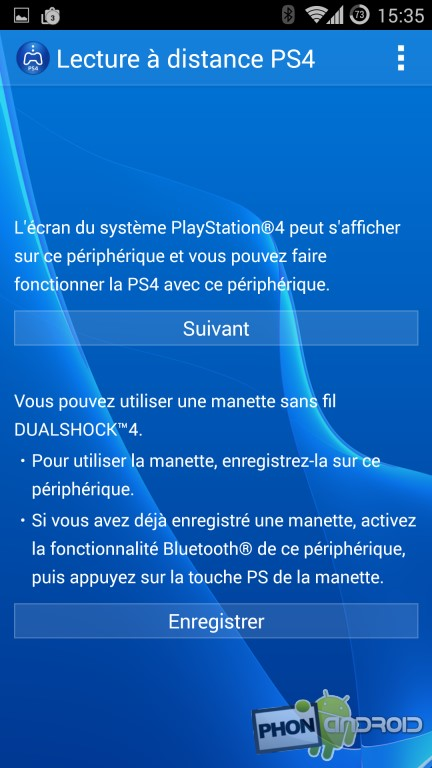 PS4 Remote Play, l'interface