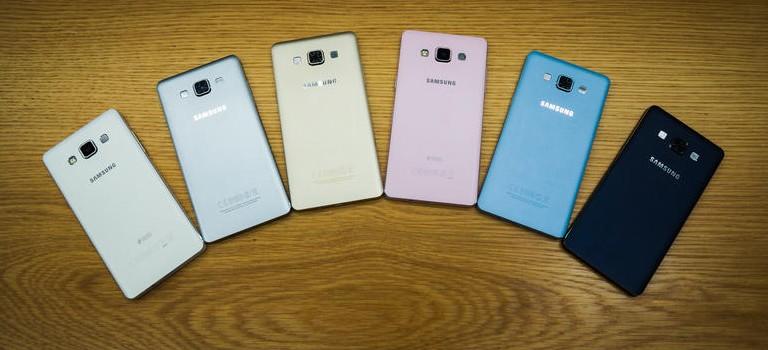 Coloris Samsung Galaxy A