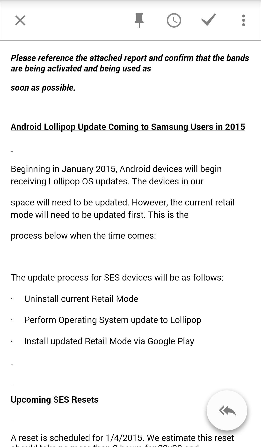 Samsung apporte Lollipop en janvier