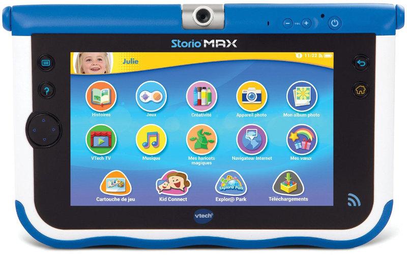 V-tech Storio Max, sélection enfants