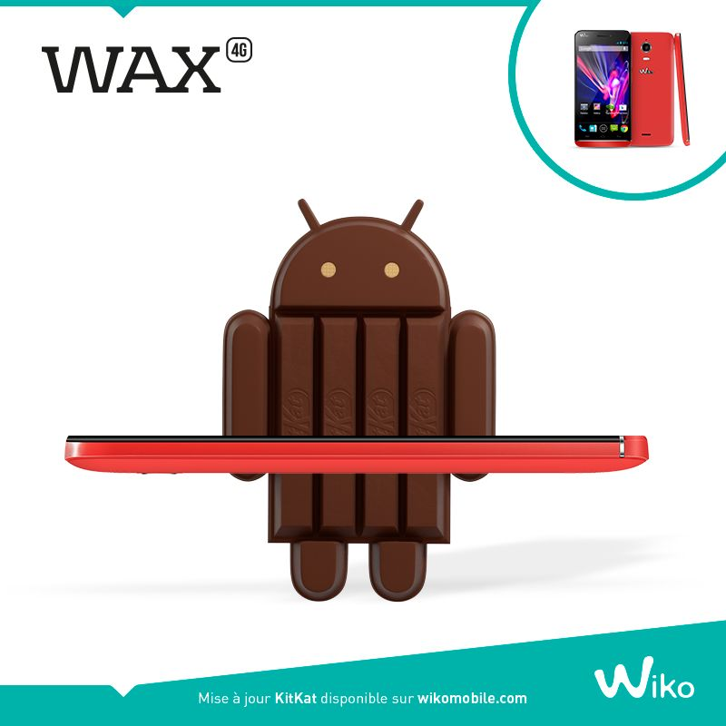mise à jour Android KitKat Wiko Wax