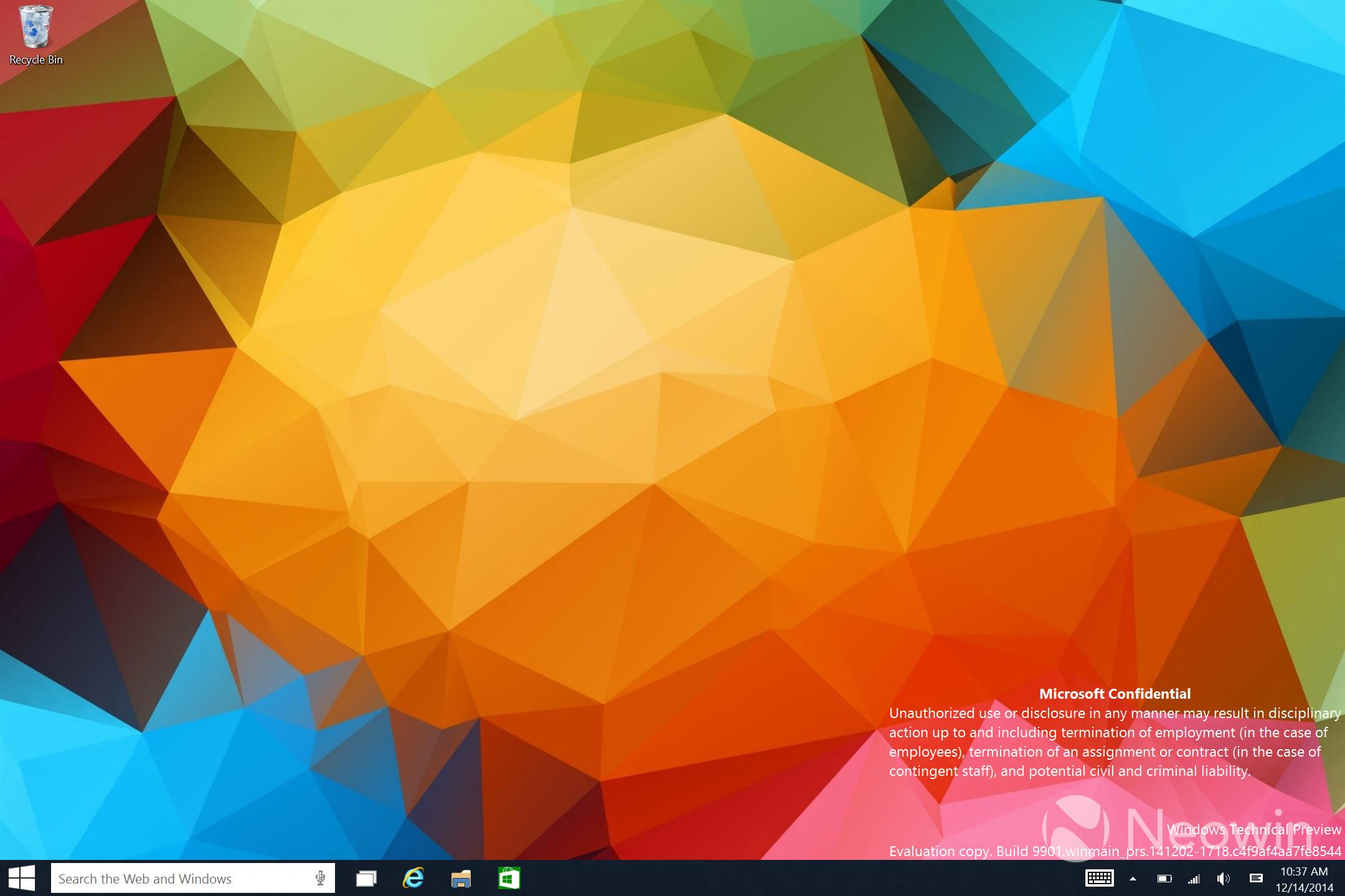 Windows 10, l build 9901