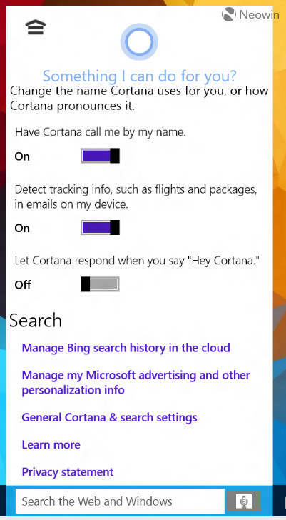 Windows 10 et Cortana