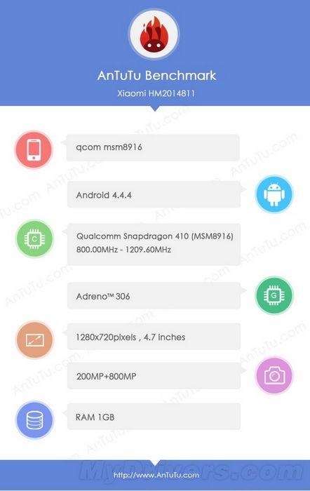 Xiaomi Redmi 2S benchmark AnTuTu