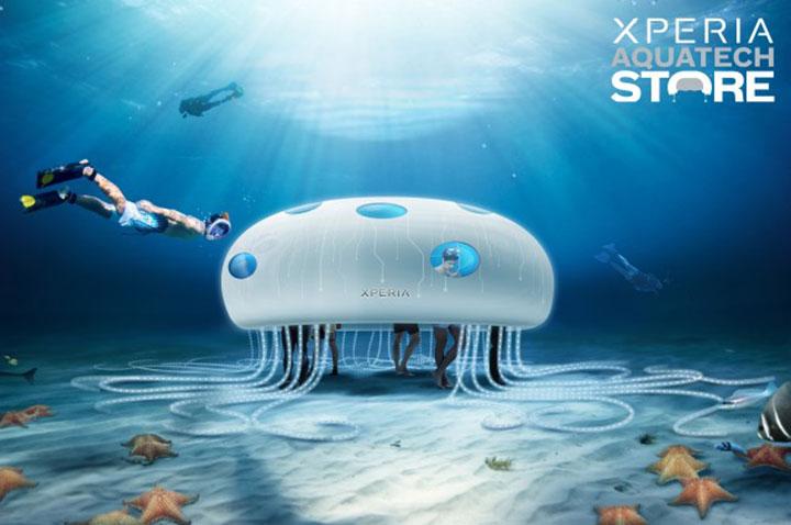 xperia sony boutique sous marine