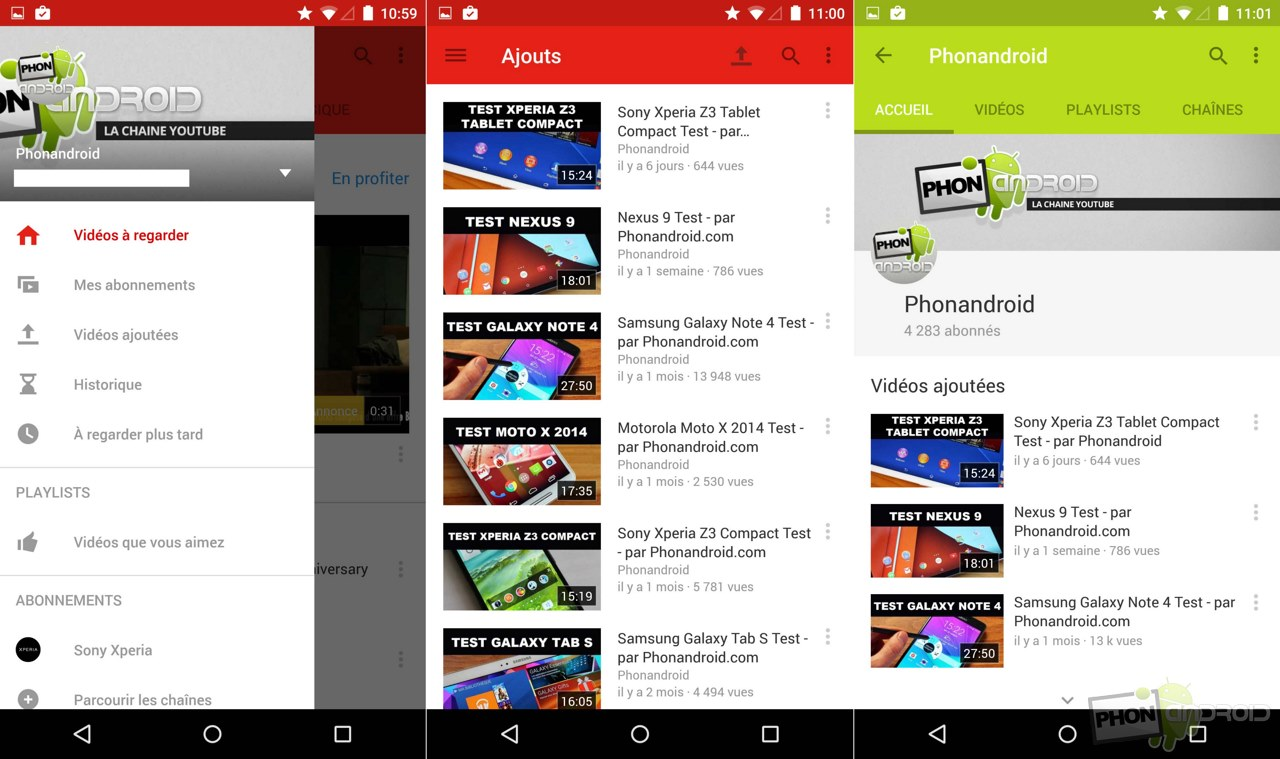 youtube android material design