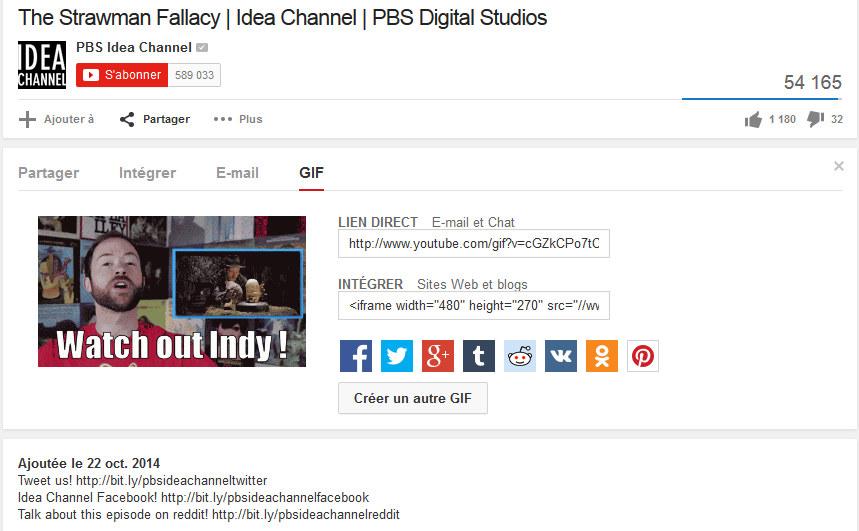 Youtube et la création de GIF, le tutoriel