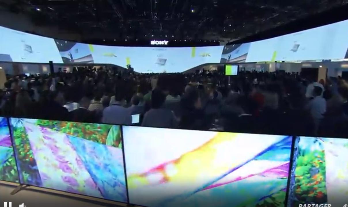 sony 4K x one processeur tv ces 2015