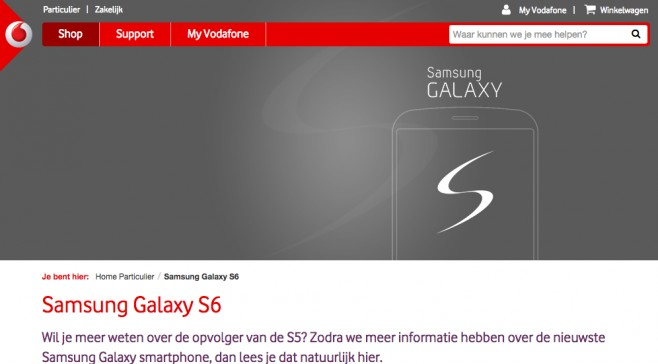 Vodafone confirme le Galaxy S6