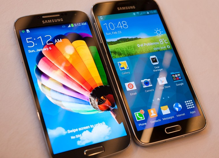 Le Samsung Galaxy S4 et le Galaxy S5