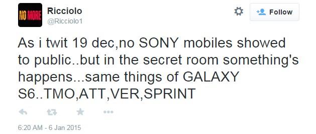 Sony Xperia Z4 Galaxy S6 CES 2015