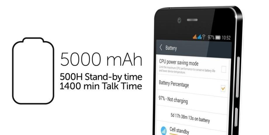 allview p6 energy une batterie de 5000 mAh