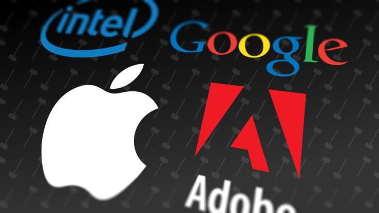google apple intel adobe verser 380 millions dollars anciens employés