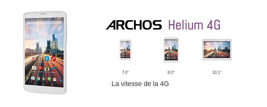 Archos tablettes 4G