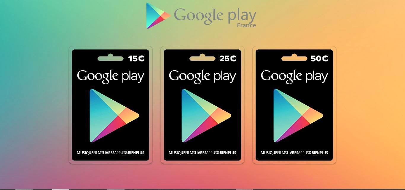 Play Store application cadeau