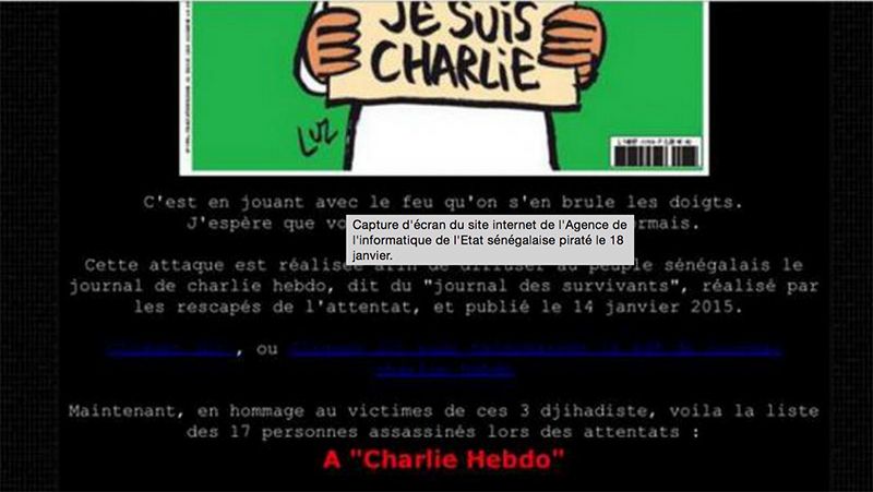 charlie hebdo anonymous attaquent senegal
