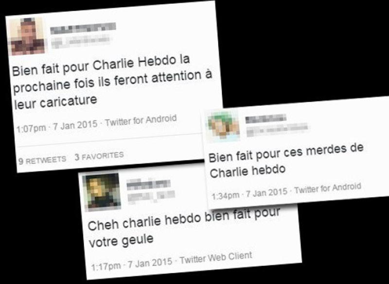 charlie hebdo commentaires réseaux