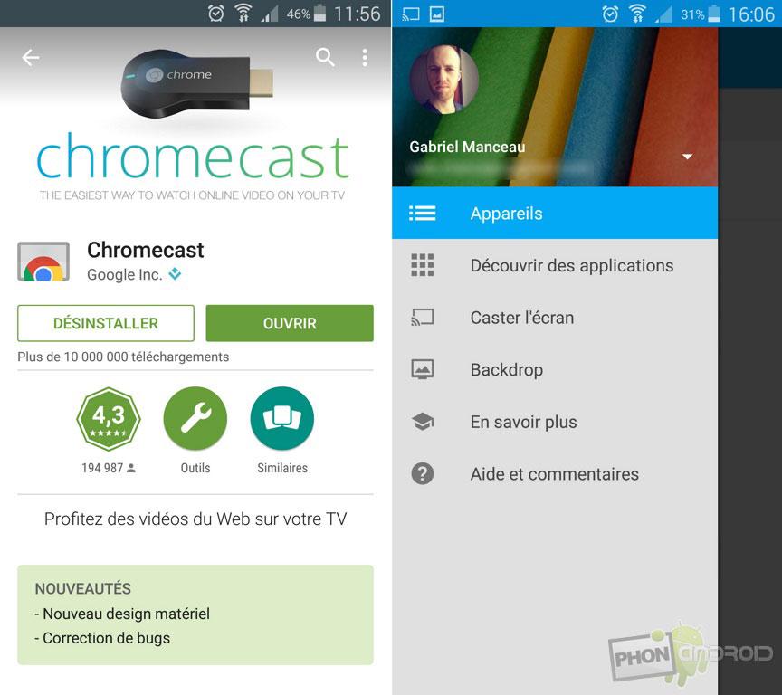 chromecast installer