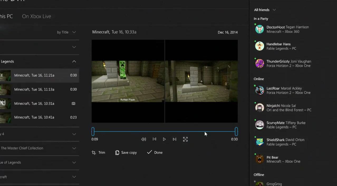 Windows 10 et l'enregistrement de sessions de jeu