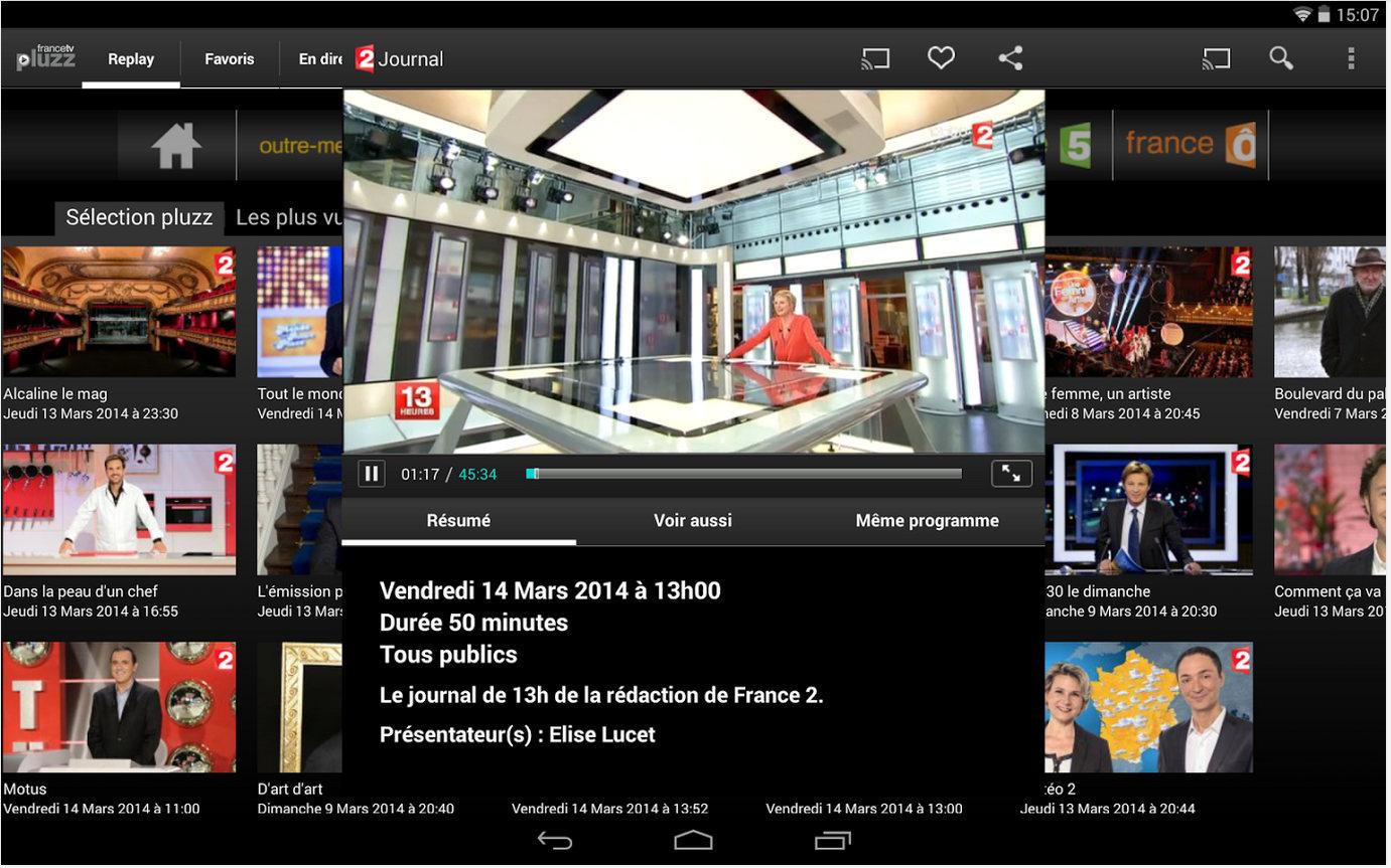 Francetv Pluzz, les programmes en Replay