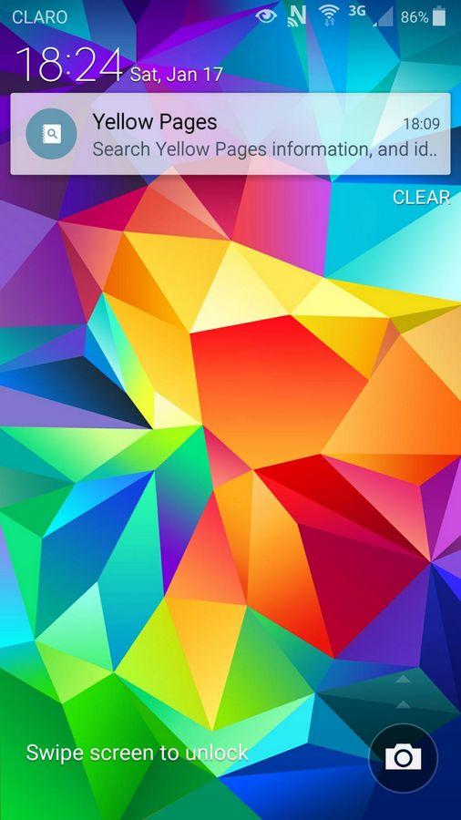 Galaxy S4 Lollipop lockscreen