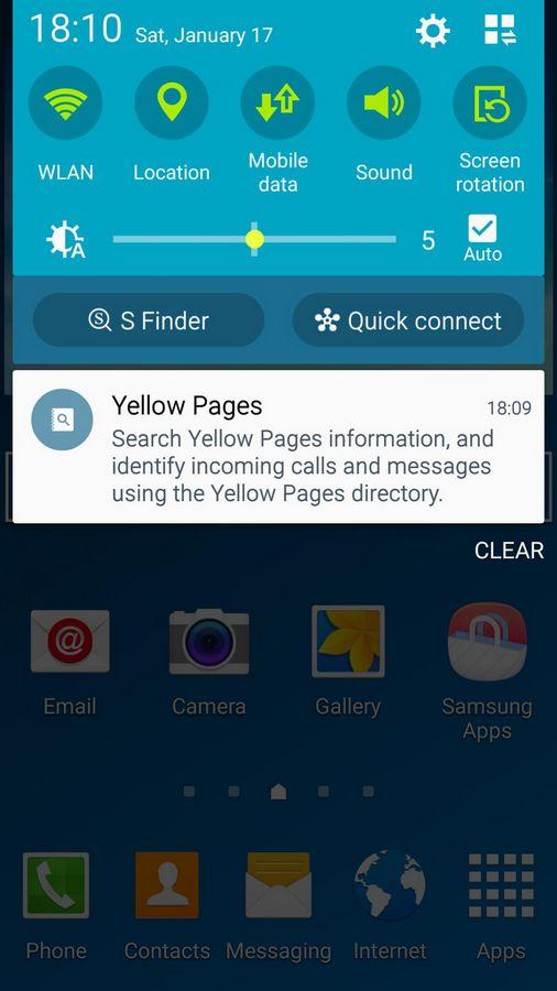 Galaxy S4 Lollipop notifications
