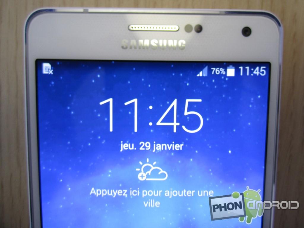 Galaxy A7 belle finition