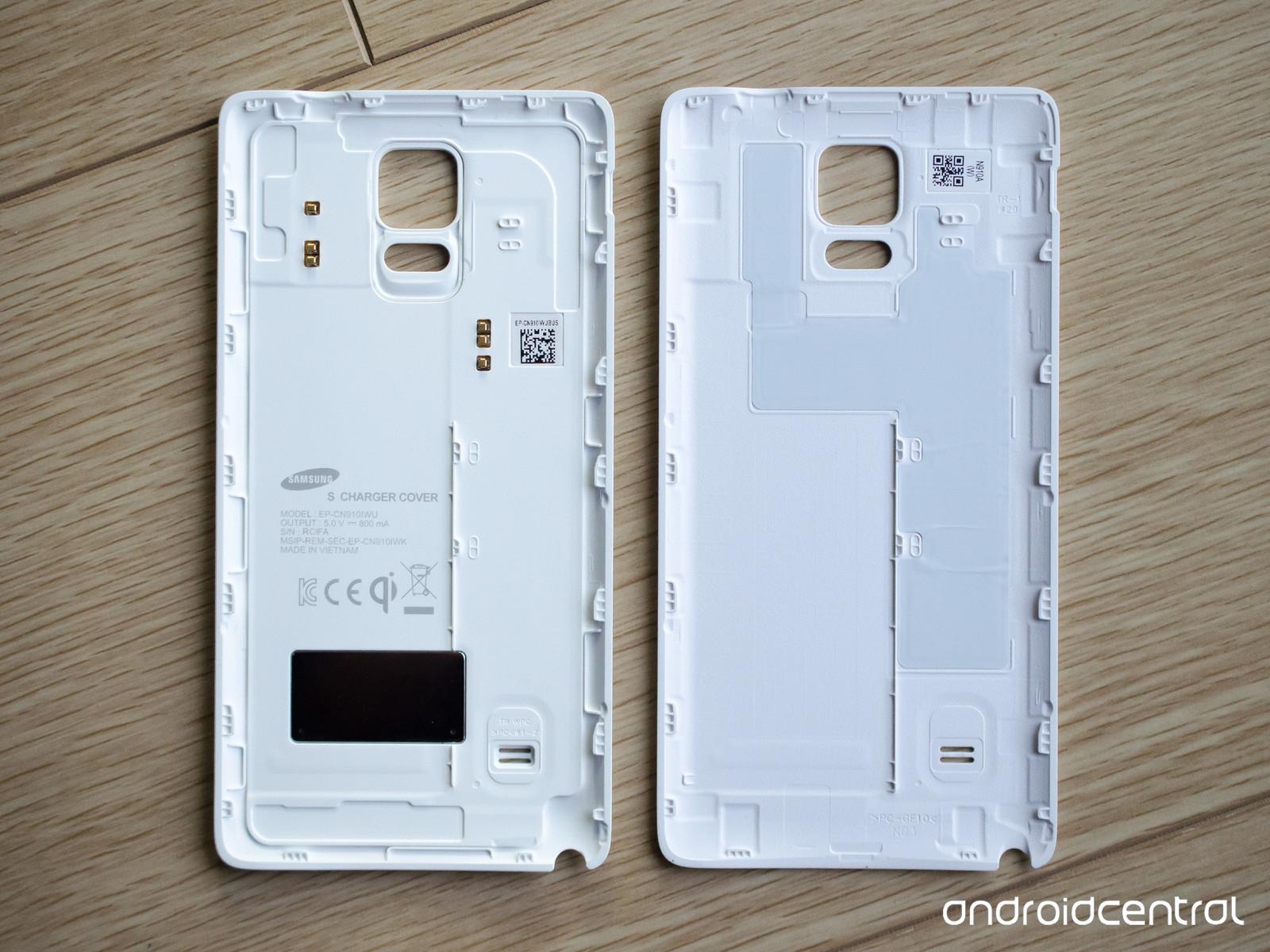 Le Galaxy Note 4 et le rechargement sans fil, le verso