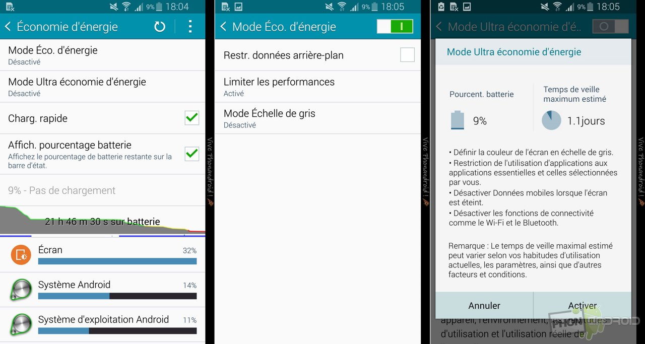 galaxy note edge autonomie