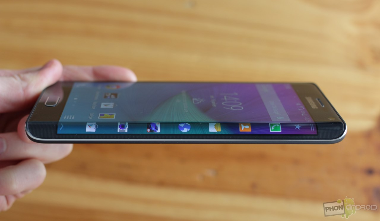 galaxy note edge ecran courbe